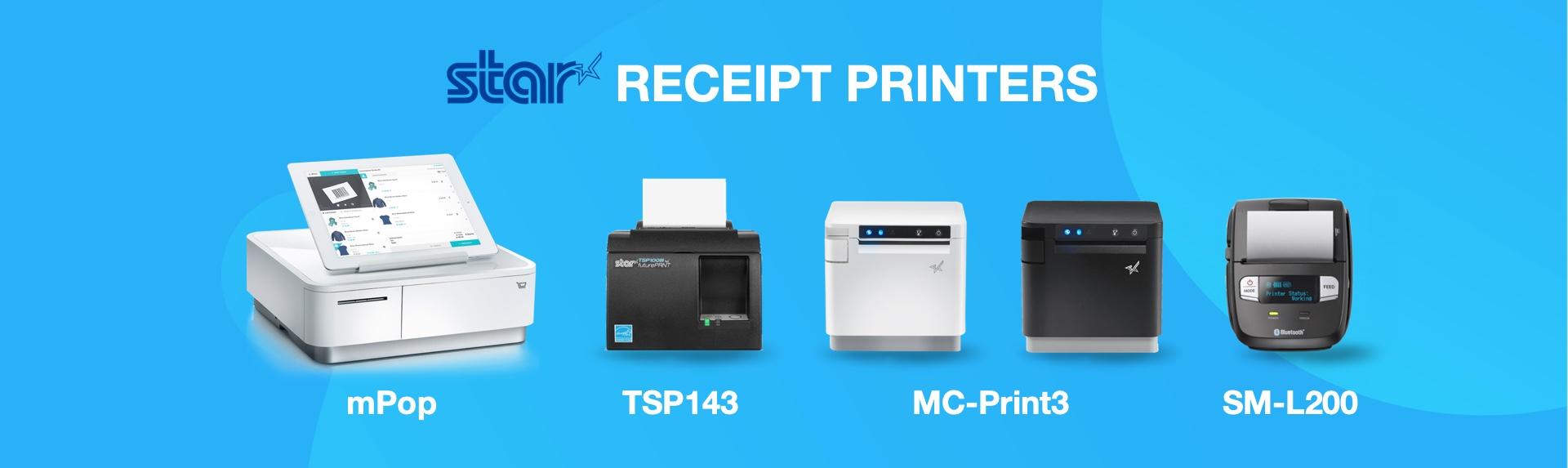 Star Micronics TSP143 mpop MCprint3 mc-print3 SM-L200 receipt printers