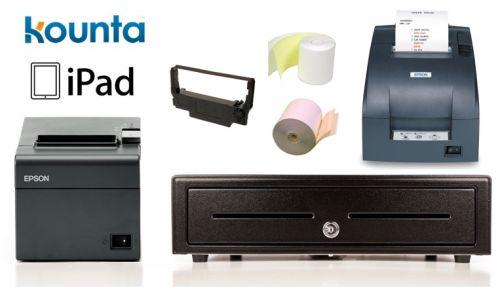Kounta Ipad Compatible Bundle No 6 Epson Tm T82ii I Intelligent Printer Kitchen Printer Cash Drawer Paper