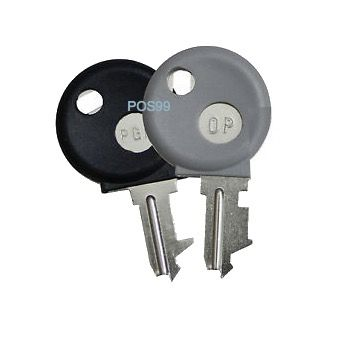 Casio Cash Register Replacement Keys (Master Key (PGM) and Operator Key (OP))
