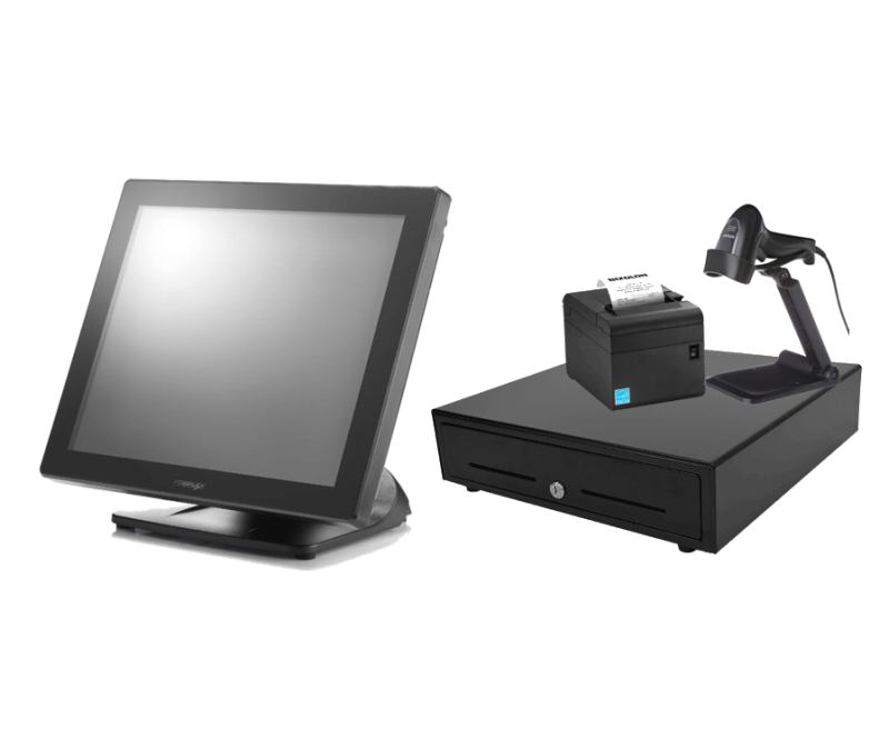 17 inch Touch Screen POS Terminal Bundle with Windows 10 IOT