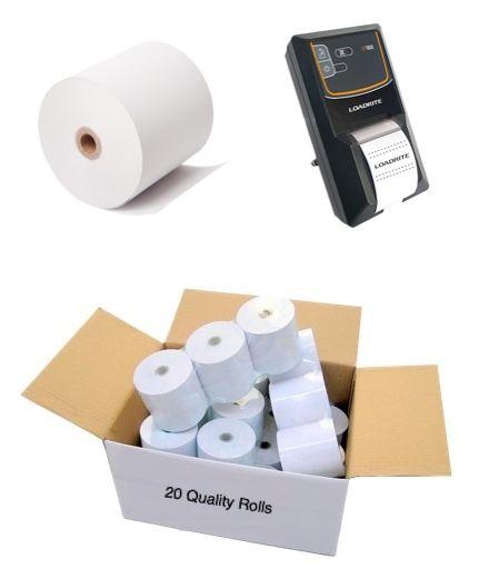 Loadrite LP950 Printer Paper Rolls (57mm wide, Box of 20 rolls)