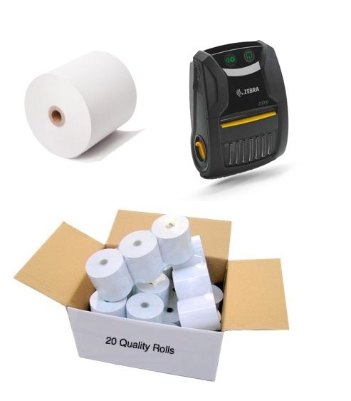 ZQ310 Receipt PaperRolls (Not labels) 57mm wide (Box of 20)