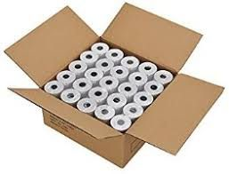 57mm x 89mm x 38mm Thermal Receipt Paper Rolls for Scales and Cash Register Scale Roles (Box of 25)
