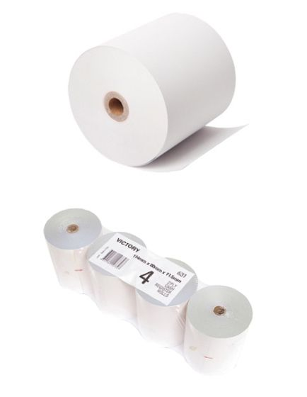 80mm x 80mm Thermal Paper Rolls (Box of 4) 80x80