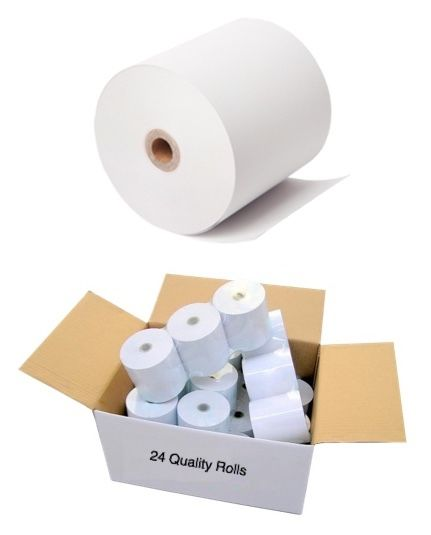 DeliverIT Receipt Paper - 80mmX80mm Thermal Rolls (Box of 24)