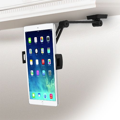 S-POS Universal & Adjustable Tablet and iPad Stand with arm, Desk and Wall Mountable