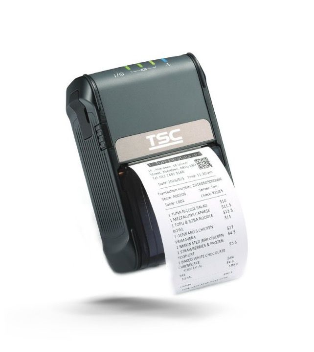 TSC Alpha-2R 2 Inch Mobile Receipt or Barcode Label Printer