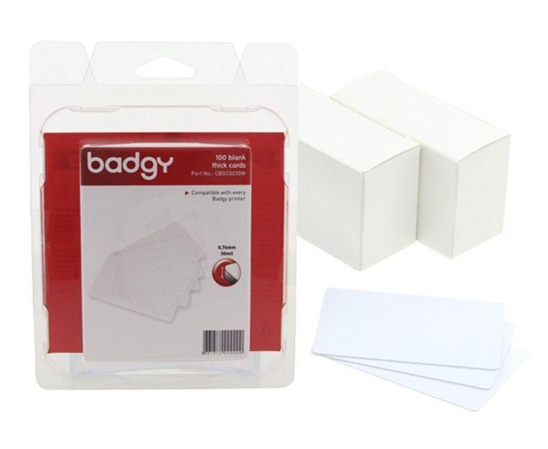 Badgy 100 Thick PVC cards (0.76 mm – 30 mi) CBGC0030W