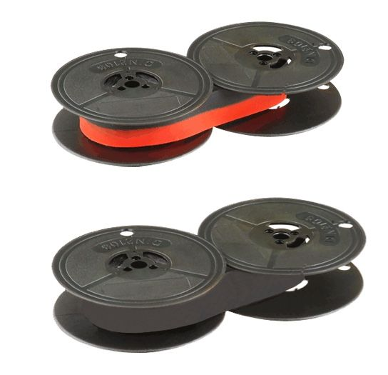 Type Writer Black Ribbon for Group 1 T S Twin Spool - Black/Red or Black