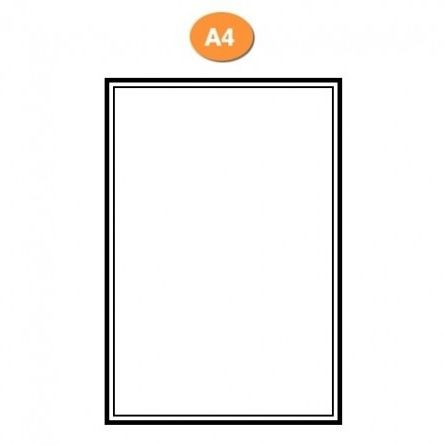 Blank A4 Label Sheets - 1 X A4 Size Label Per Sheet (Multiple Labels Per Sheet Options) (500 Sheets)