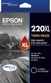 220XL - High Capacity DURABrite Ultra - Twin Pack Black Ink Cartridge