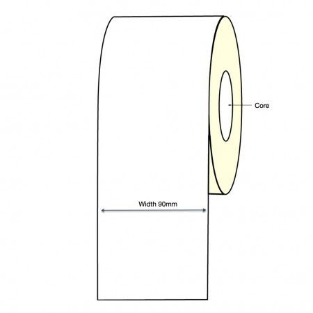 Epson TM-C3500 Inkjet Continuous Label Roll - 90mm X 30 Meter Long Permanent (2 Rolls)