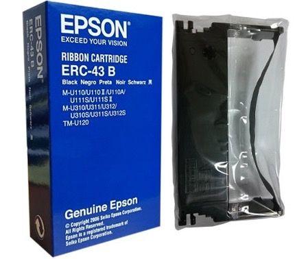 Epson Geniune ERC-43B - Black Ribbon Cartridge / Cassette