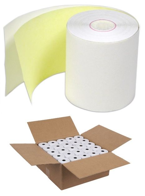 76mm x 76mm Two Ply Carbonless Bond Rolls (Box of 24 rolls)