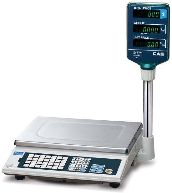 CAS AP-1 Price Computing Scale with Pole