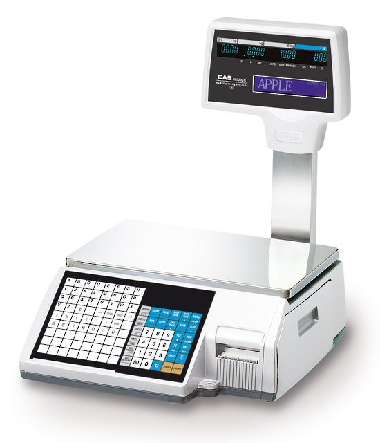 CAS CL3000-B / CL3000-P Scale with Barcode Sticky Label Printing