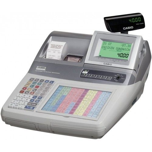 Casio TE-4000F Electronic Cash Register - Dual Station (Optional Paper)