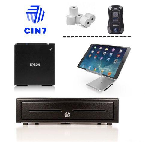 CIN7 Compatible Bundle no.2 (Epson M30 LAN / Ethernet Thermal Receipt Printer, Stand for iPad, Cash Drawer)