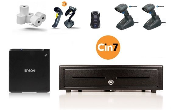 CIN7 Compatible Bundle no.6 (USB & Network Thermal Receipt Printer, Cash Drawer)