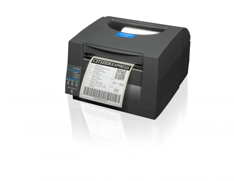Citizen CLS521 Direct Thermal Label Printer, Dark Grey (203dpi)