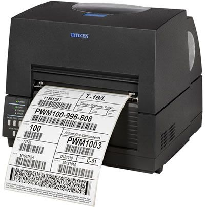 Citizen CL-S6621 Thermal Transfer Label Printer (6 inch, USB, Serial)