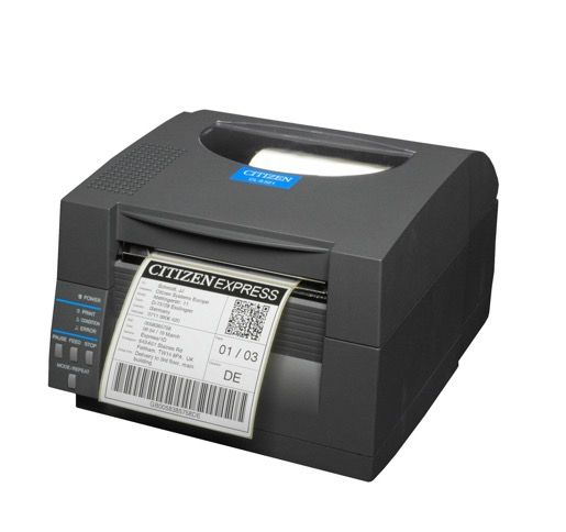 Citizen CLS531 Direct Thermal Label Printer, Dark Grey (300dpi)