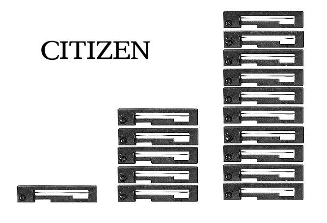 Citizen Genuine IR-91B Ribbons (IR91B) - Black - Pack of 1 or 5 or 10