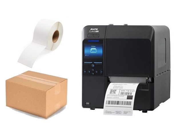 SATO CL4NX Plus Industrial 4 inch Shipping Label Printer Bundle