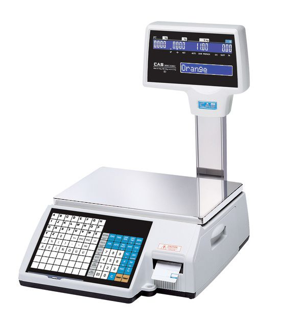 CAS CL5000-J / CL5200 Scale with Barcode Label Printing