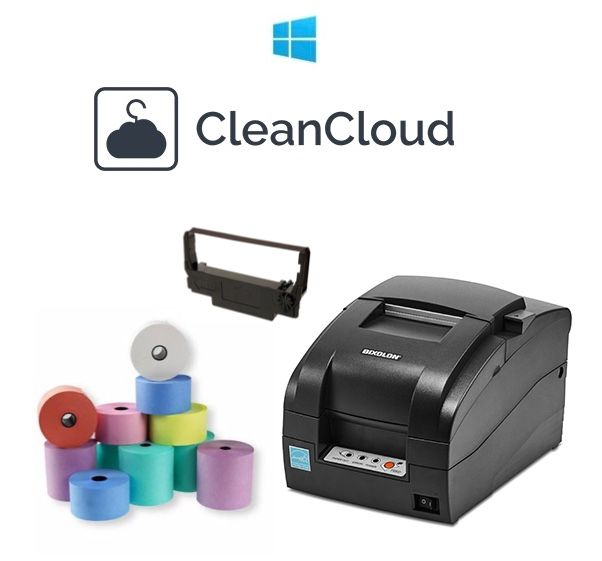 CleanCloud Dry Cleaning / Garment Tag Windows Printer Bundle (Bixolon SRP-275III)