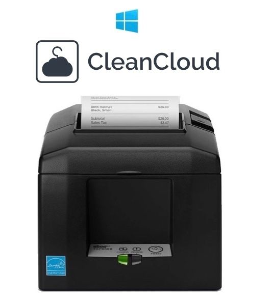 CleanCloud PC / Windows Comaptible Receipt / Docket Printer (USB or LAN/Network)