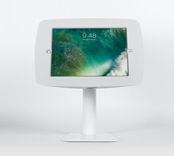 Como Tablet Stand Tall - Freestanding Rotate 90 Degrees White