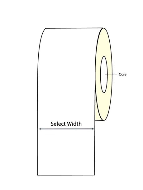 INKJET Paper Continuous Label Roll - Gloss or Matt