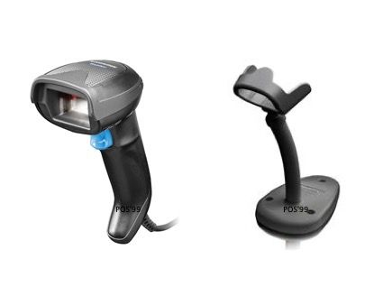 Datalogic Gryphon GD4520 Corded Barcode Scanner (2D, Black, USB, Stand)