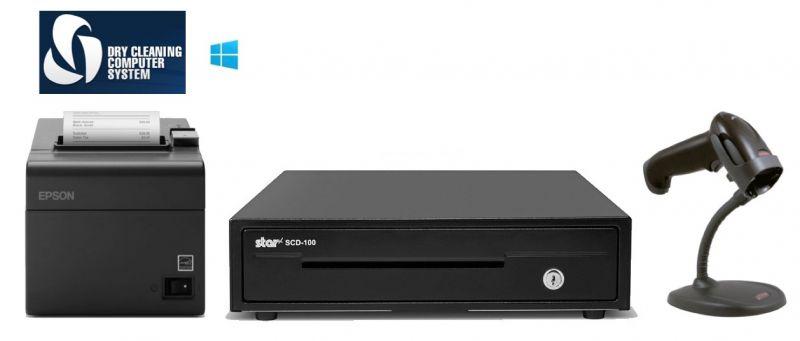 DCCS PC/ Windows POS Bundle - Receipt Printer, Scanner, Cash Drawer