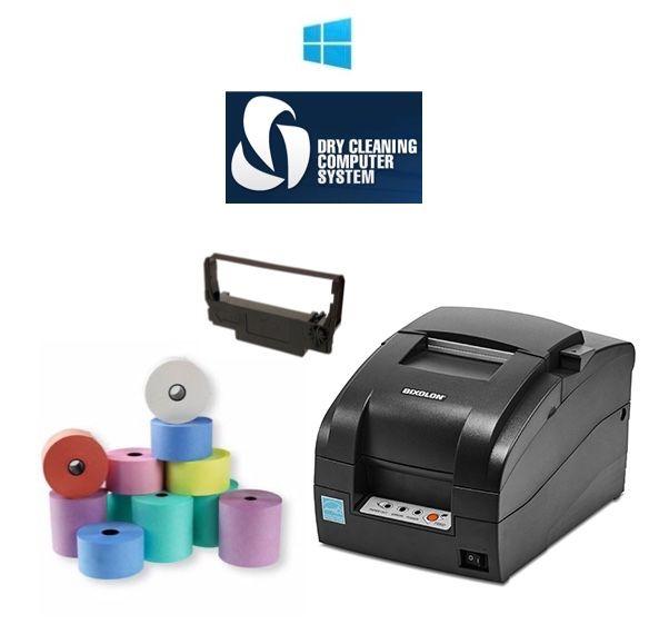 DCCS Dry Cleaning / Garment Tag Printer Bundle (Bixolon SRP-275)