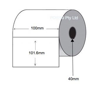 Direct Thermal Labels 100mm x 101.6mm x 40mm Core (12 Rolls of 400) - Permanent