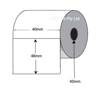 Direct Thermal Labels 40mm x 46mm x 40mm Core (28 Rolls of 1,200) - Permanent