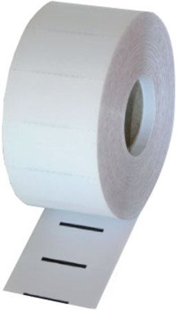Direct Thermal White Ticket / Data Strip 64mm x 25mm x 76mm Core (5 Rolls of 1,000) Black Mark