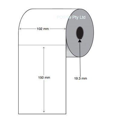 QLn420 Direct Thermal Labels 102mm x 150mm x 19.3mm Core (40 rolls of 100)
