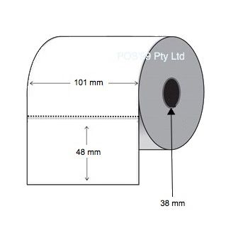 Direct Thermal Labels 101mm x 48mm x 38mm Core (Rolls of 1,500)