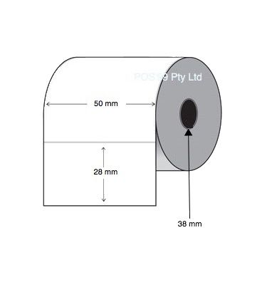 Direct Thermal Labels 50mm x 28mm x 38mm Core (10 rolls of 2,000)