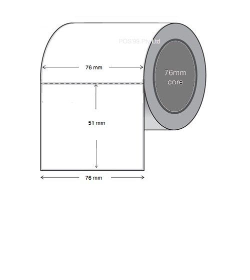 Direct Thermal Labels 76mm x 51mm x 76mm (6 Rolls of 2,750) (3 x 2 x 3inch)