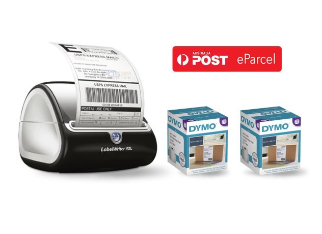 eParcel Bundle - DYMO LabelWriter 4XL Shipping Label Printer & 2 Boxes Shipping Labels