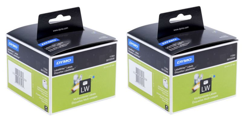 Dymo Multi-Purpose Retail Labels 19mm X 51mm (2 Rolls of 500 LPR)  White