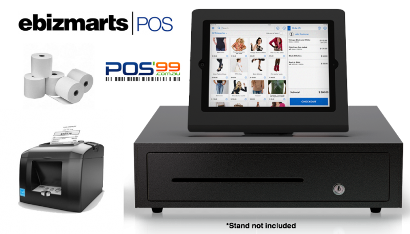 Ebizmarts POS Bundle 2 (STAR TSP654 Bluetooth Thermal Receipt Printer, Cash Drawer, Paper)