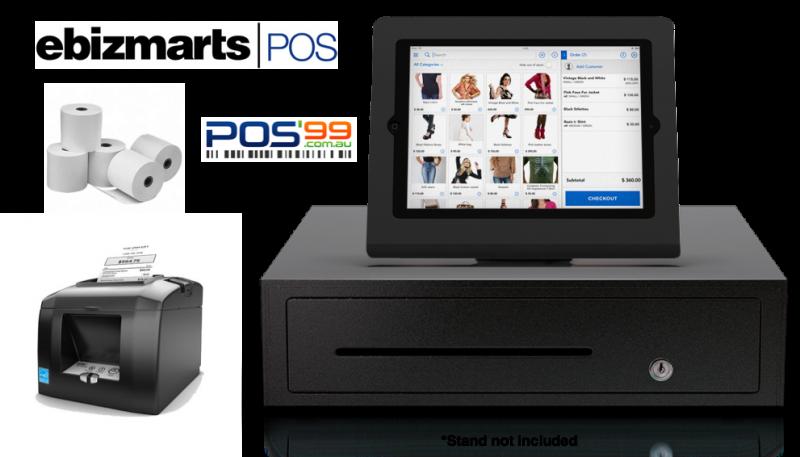Ebizmarts POS Bundle 2 (STAR TSP654 Bluetooth Thermal Receipt Printer, Cash Drawer, Paper)