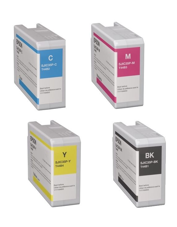 Epson CW-C6000 Inkjet Cartridge Bundle Pack YELLOW MAGENTA CYAN BLACK C6010 C6510