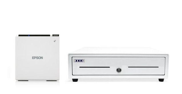 Epson M30 White Bundle Receipt Printer & Cash Drawer (Optional Paper)