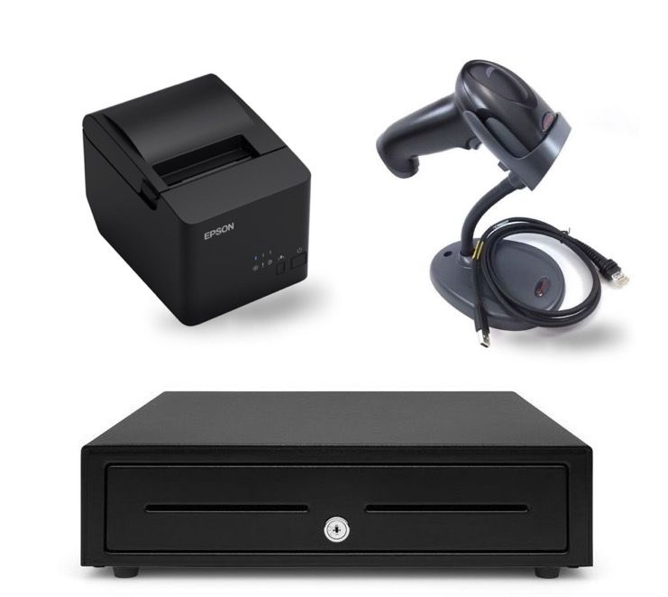 Windows Compatible Epson T82IIIL POS Bundle - Receipt Printer, Cash Drawer, Barcode Scanner